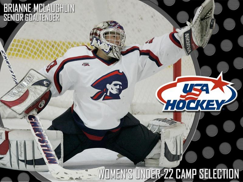 Mclaughlin Selected To Usa Hockey Women S U 22 Camp Robert Morris