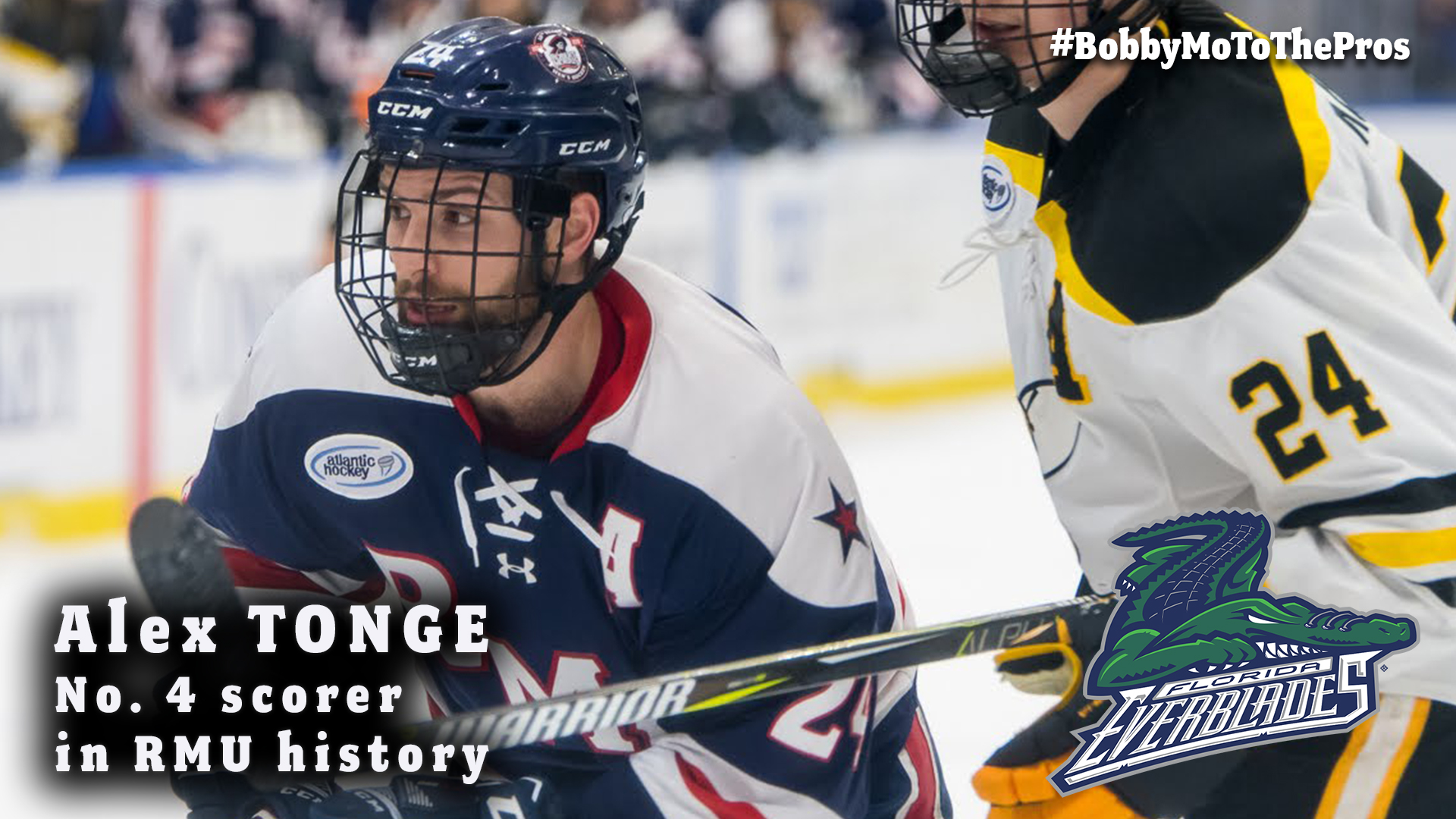 Tonge Signs Tryout Deal With Echl S Florida Franchise Robert