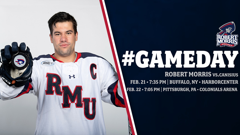 RMU Takes On Canisius In Home And Home This Weekend - Robert Morris University Athletics