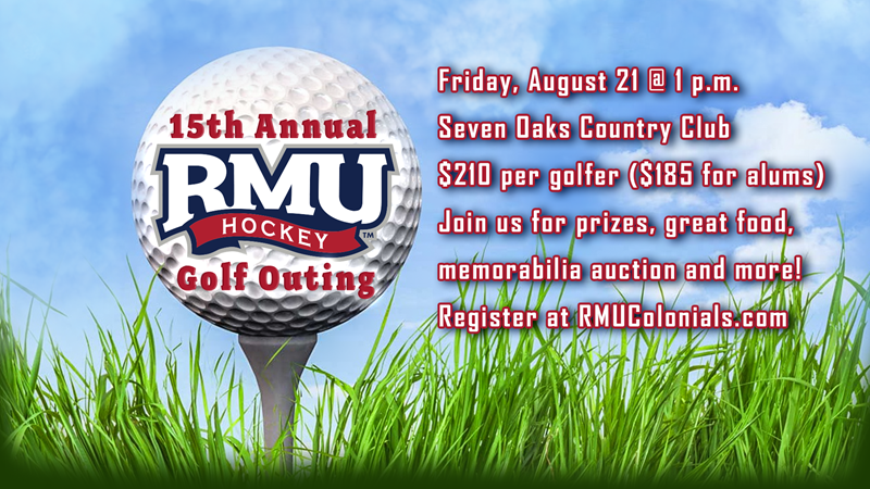 Men's Hockey To Host 15th Annual Golf Outing - Robert Morris University Athletics