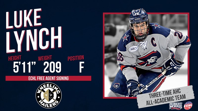 Lynch Signs With ECHL's Wheeling Nailers - Robert Morris University Athletics